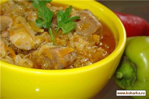 Рецепт Мясо, тушенное с капустой