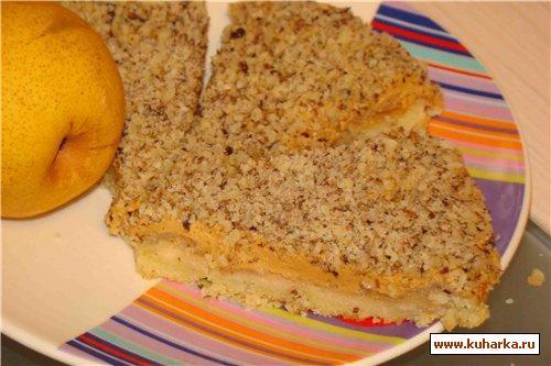 Грушевый пирог из песочного теста рецепт