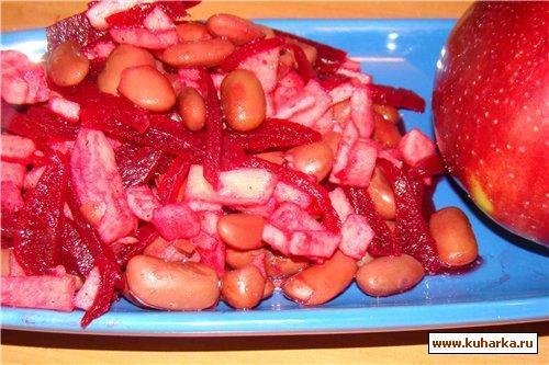 Рецепт Салат из фасоли с яблоками