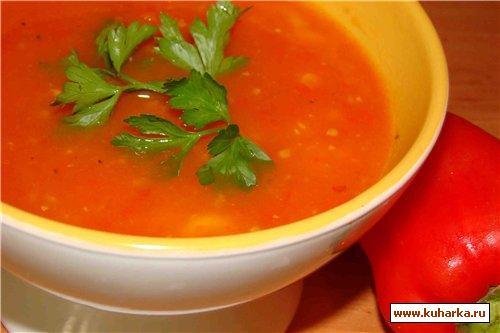 Рецепт Томатный суп с макаронами