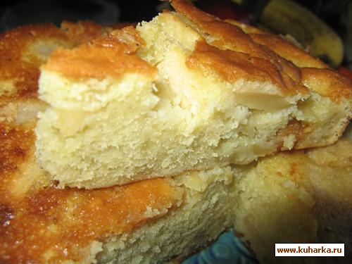 Рецепт Яблочный Кекс с Марципаном
