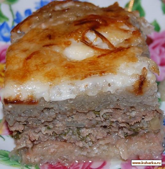 Рецепт Запеканка из картофеля с фаршем