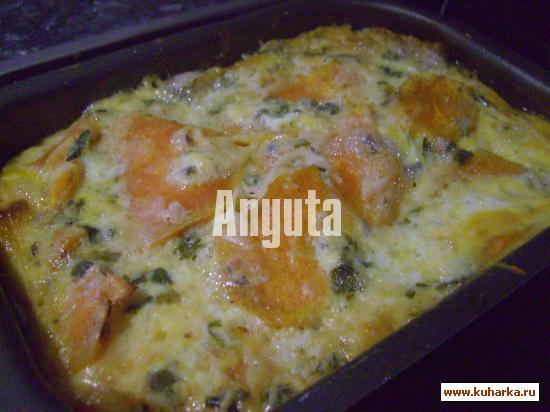 Рецепт Гратэн из батата и тыквы с сыром