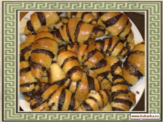 Рецепт рогалики с шоколадом