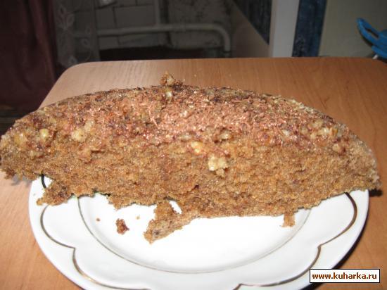 Рецепт Кекс ореховый в микроволновке