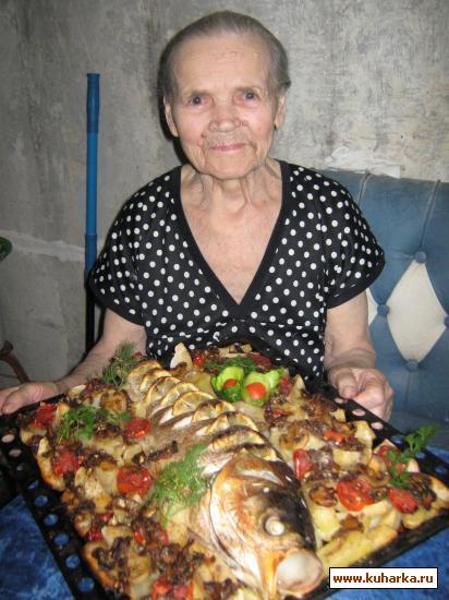 Рецепт Рыба с гарниром в духовке.
