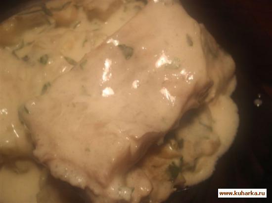 Рецепт Рыба под сливочно-горчичным соусом