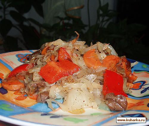 Рецепт Жареная капуста с грибами
