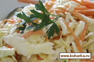 Рецепт Капустный салат с домашним майонезом