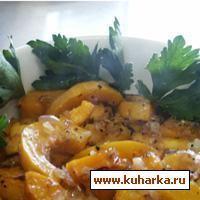 Рецепт Горячий салат с тыквой и красным луком