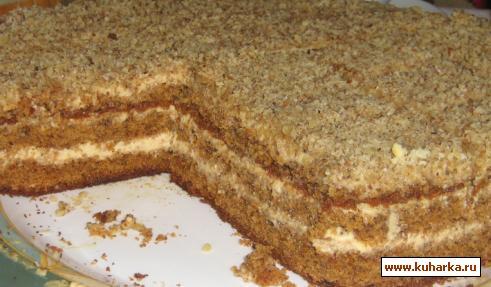 Рецепт Медово-ореховый торт.
