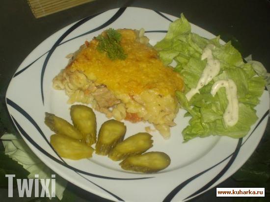 Рецепт Запеканка с тунцом и сыром