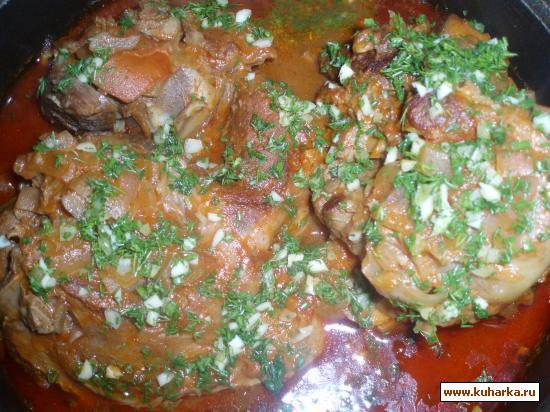 Рецепт Телятина, тушенная в томатном соке.