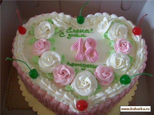 Торт к дню рождения на 18 лет