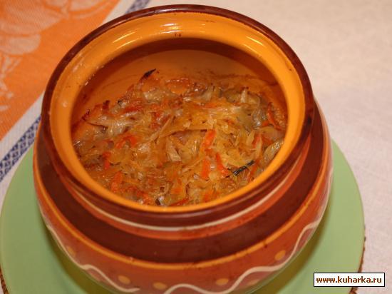 Рецепт Гуляш, тушенный с квашеной капустой