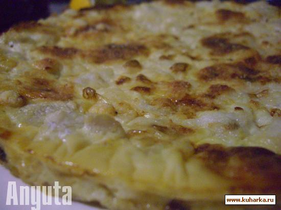 Рецепт Запечёный мерлан с луком-пореем (Gratinado de merluza con puerros)