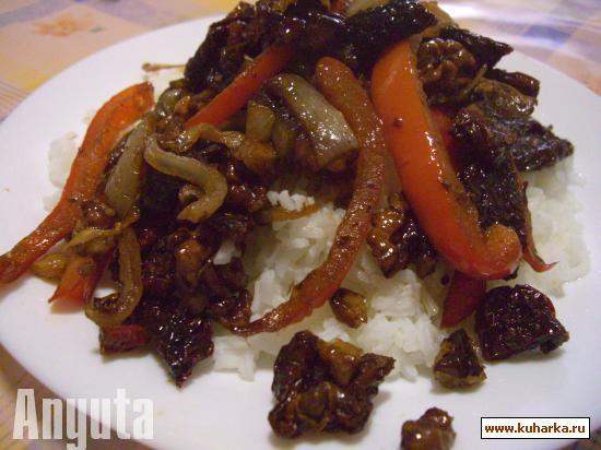 Рецепт Перец с сушёными помидорами, с бальзамическим уксусом и орехами