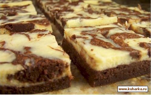Рецепт Брауни с шоколадом и сливочным сыром