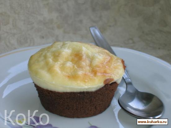 Рецепт Мраморное шоколадное пирожное с рикоттой