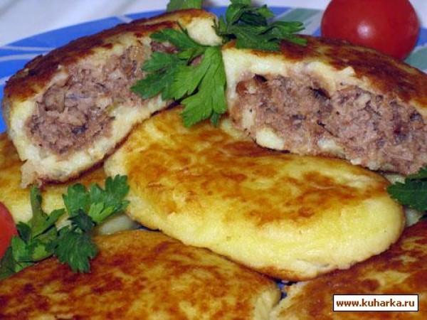 Картофельные пирожки с мясом рецепт