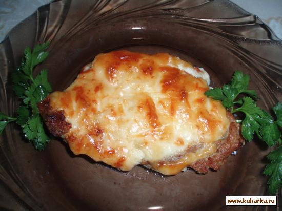 Рецепт Свинина запеченная с сыром и майонезом