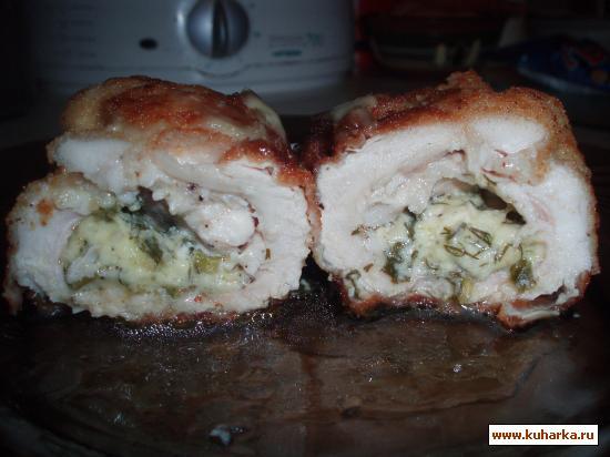 Рецепт Куриное филе фаршированное сыром
