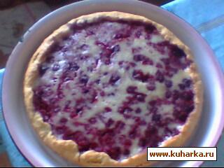 Рецепт Пирог ягодный со сметанной заливкой