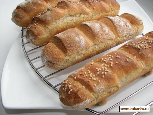 Рецепт Багеты по-деревенски