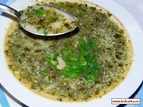 Рецепт Зелёный шпинатовый суп