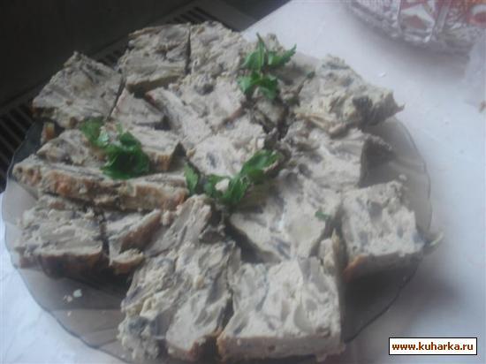 Рецепт Паштет грибной с телятиной