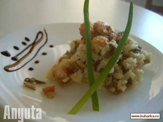 Рецепт Ризотто с грибами и креветками