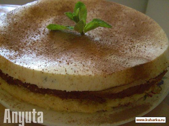 Рецепт Шоколадно-мятный баваруа (Bavarois menthe – chocolat)