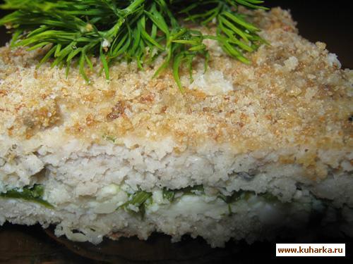 Рецепт Рыбная запеканка с омлетом