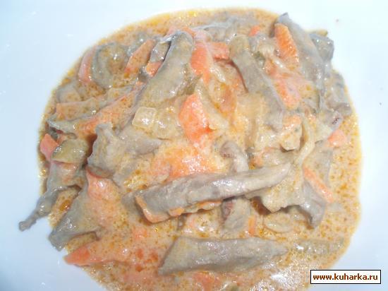 Рецепт Азу из говяжьей печени