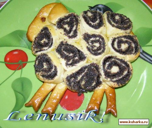 Рецепт Пасхальный барашек из дрожжевого сдобного теста