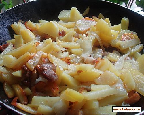 Рецепт Жареная картошка на сале
