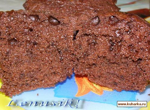 Рецепт Шоколадные маффины с апельсиновыми цукатами