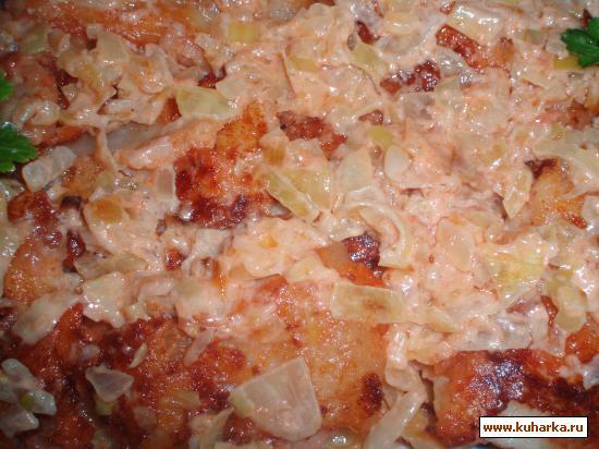 Рецепт Морской язык жареный с соусом