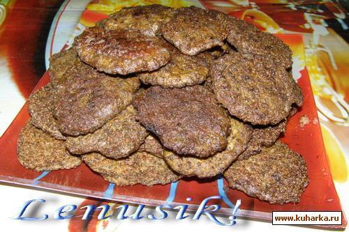 Рецепт Печёночные котлеты с тыквой