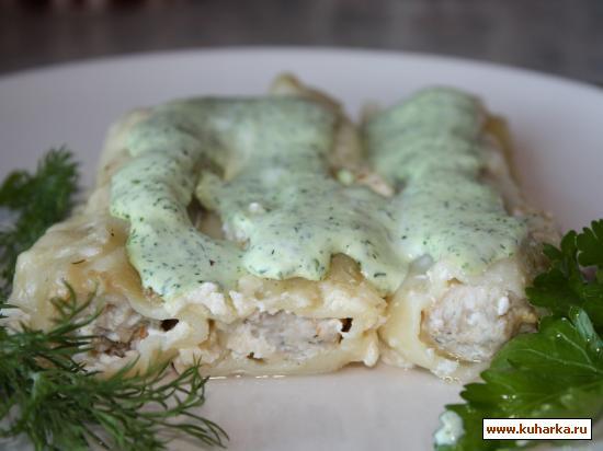 Рецепт Каннеллони с мясным фаршем