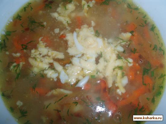 Рецепт Рисовый суп с яйцом