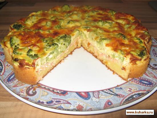Рецепт Запеканка с сёмгой и брокколи.