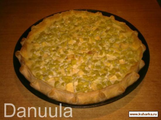 Рецепт Пирог с ревенем и яблоками