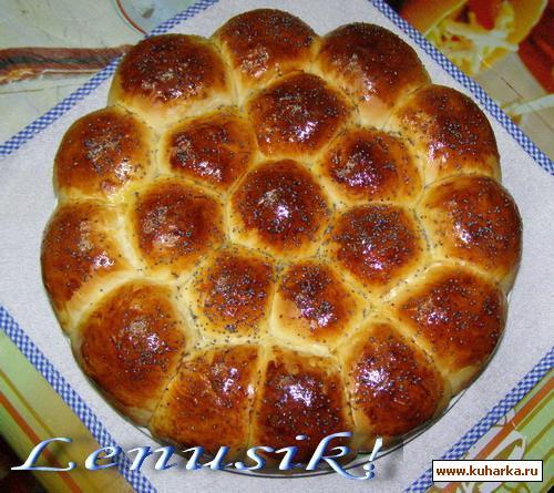 Рецепт Пирог из булочек с ветчиной и сыром - Torta Danubio