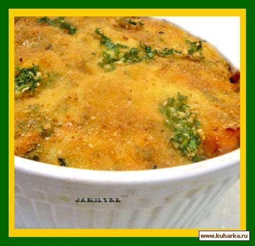 Рецепт Жаркое из яиц с копченой рыбой