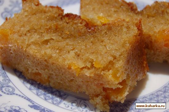 Рецепт Кокосовый кекс с сушенными абрикосами