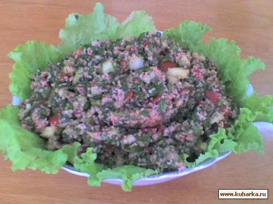 Рецепт Овощной салат с крупой (табуле)