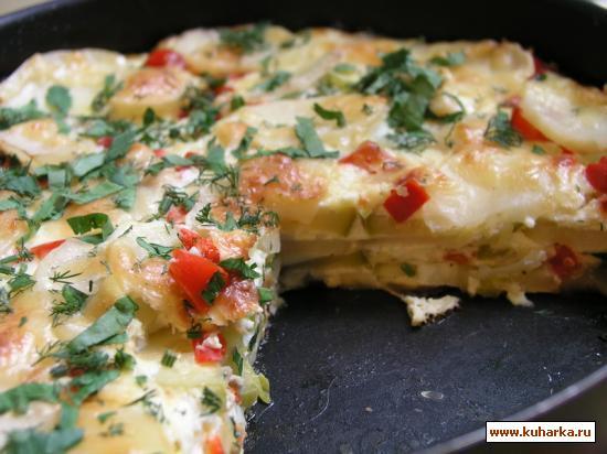 Рецепт Запеканка картофельная с овощами