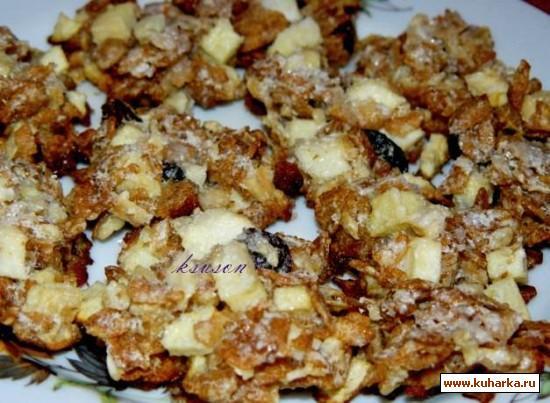 Рецепт Печенье с яблоками и мюсли