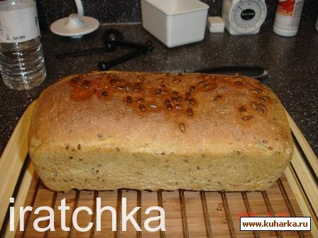 Рецепт Немецкий ржаной хлеб с семечками льна, подсолнуха и кунжута